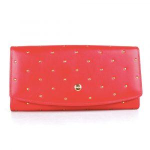 Giudi Dámská kožená peněženka 6541/BU/RI/Q – červená