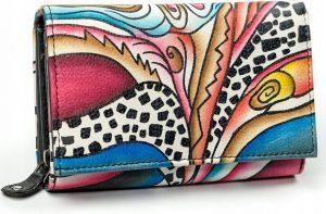 Dámská peněženka z kůže Maledives (M-N19-ART-07_4338 BLACK) Velikost: univerzální