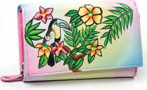 Dámská peněženka z kůže Maledives (M-N19-ART-05_4314 PINK) Velikost: univerzální