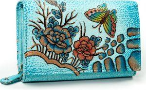 Dámská peněženka z kůže Maledives (M-N19-ART-03_4291 BLUE) Velikost: univerzální