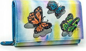 Dámská peněženka z kůže Maledives (M-N19-ART-02_4284 BLUE) Velikost: univerzální