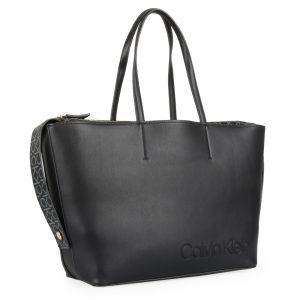 Calvin Klein Dámská shopper kabelka přes rameno Attached K60K605654 – černá