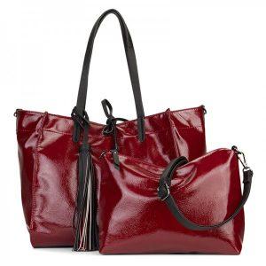 Dámská kabelka Emily & Noah Sharlota – tmavě červená