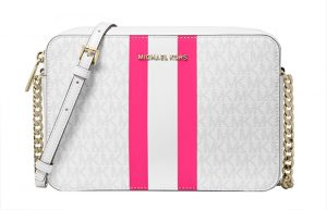 Michael Kors Dámská kabelka Jet Set Large Logo Stripe Crossbody Bag