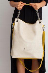 BASIC Dámská smetanovo-žlutá kabelka 0019 Velikost: univerzální