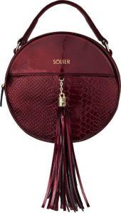 SOLIER Genuine leather crossbody (FL17 BURGUNDY) Velikost: univerzální