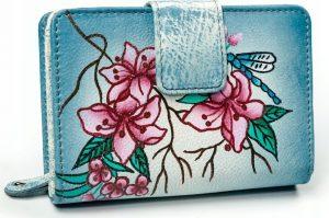 BASIC Dámská modrá peněženka s potiskem M-N109-ART-01_4475 GRAY Velikost: univerzální