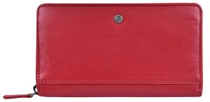 JustBag Dámská kožená peněženka 5212 Fire Red