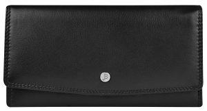 JustBag Dámská kožená peněženka 5215 Black