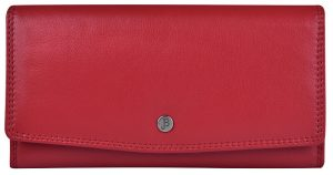 JustBag Dámská kožená peněženka 5215 Fire Red