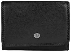 JustBag Dámská kožená peněženka 5216 Black