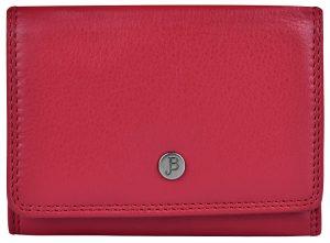JustBag Dámská kožená peněženka 5216 Fire Red