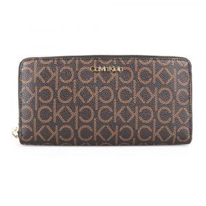 Calvin Klein Dámská peněženka CK Must Large K60K605894 – hnědá