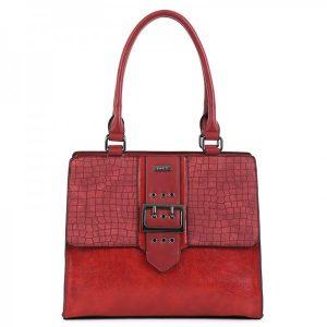Dámská kabelka Doca 15582 – červená