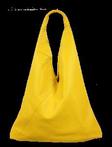 Kožená kabelka přes rameno Alma Gialla
