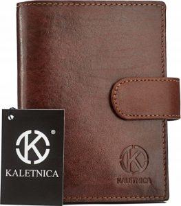 Pánská hnědá kožená peněženka RFID N4L-KNC-KALETNICA BROWN Velikost: univerzální
