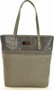 Béžová zdobená shopper kabelka MONNARI (9320b) Velikost: univerzální