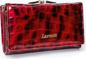 Lorenti červená kožená peněženka RFID (55020-PT RED) Velikost: univerzální