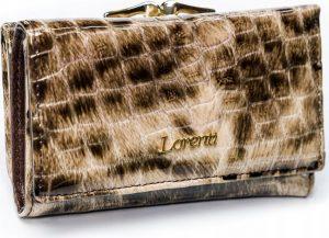 Lorenti vzorovaná kožená peňaženka RFID (55020-PT BROWN) Velikost: univerzální