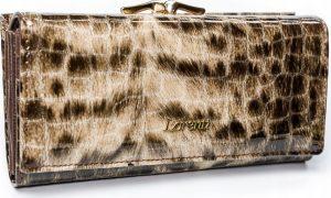 Lorenti vzorovaná kožená peněženka RFID (72031-PT BROWN) Velikost: univerzální