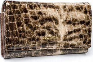 Lorenti vzorovaná kožená peněženka RFID (64003-PT BROWN) Velikost: univerzální