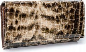 Lorenti vzorovaná kožená peněženka RFID (72037-PT BROWN) Velikost: univerzální