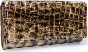 Lorenti vzorovaná kožená peněženka RFID (72401-PT BROWN) Velikost: univerzální