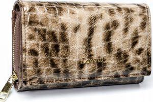 Lorenti vzorovaná kožená peněženka RFID (76112-PT BROWN) Velikost: univerzální