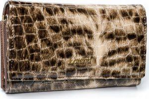 Lorenti vzorovaná kožená peněženka RFID (76110-PT BROWN) Velikost: univerzální