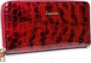 Lorenti červená kožená peněženka RFID (77006-PT RED) Velikost: univerzální