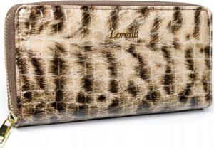 Lorenti vzorovaná kožená peněženka RFID (77006-PT BROWN) Velikost: univerzální