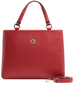 Tommy Hilfiger Dámská kabelka Th Smooth Tommy Med Satchel Haute Red Mix