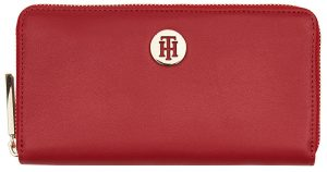 Tommy Hilfiger Dámská peněženka Th Smooth Lrg Za Haute Red Mix