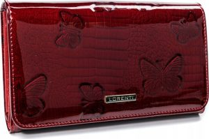 Lorenti červená kožená peněženka (1077-RSBF RED) Velikost: univerzální