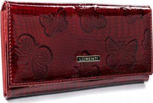 Lorenti červená kožená peněženka (72401-RSBF RED) Velikost: univerzální