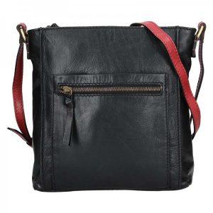 Dámská crosbody kabelka Lagen Paula – černo-červená