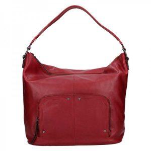 Dámská kožený kabelka Lagen Dana – červená