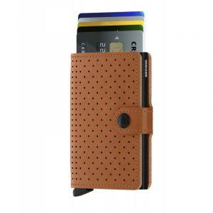 Hnědá peněženka Miniwallet Perforated 53602