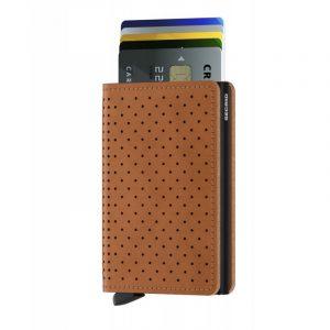 Hnědá peněženka Slimwallet Perforated 53603