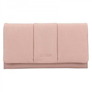 Dámská kožená peněženka Lagen Nicol – růžová