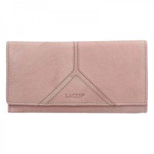 Dámská kožená peněženka Lagen Frela – růžová