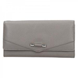 Dámská kožená peněženka Lagen Kasandra – šedá
