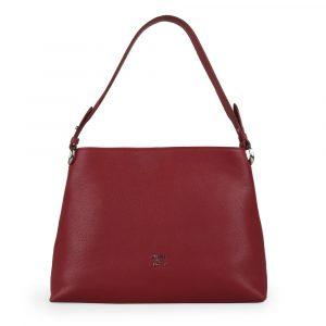 Elega by Dana M Dámská kožená kabelka přes rameno Maternity 69447 – vínová