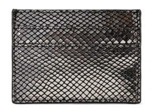 Pieces Dámská peněženka PCNAINA LEATHER SNAKE CARDHOLDER Black snake