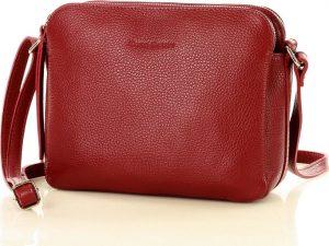 MARCO MAZZINI dvoukomorová kožená kabelka – červená (l156m) Velikost: univerzální