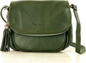 MAZZINI Kožená zelená crossbody kabelka (l27m) Velikost: univerzální