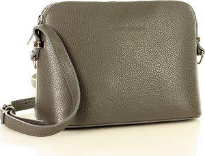 Šedá kožená crossobody kabelka MARCO MAZZINI (l165i) Velikost: univerzální