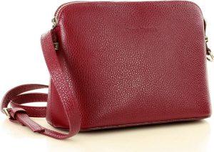 Červená kožená crossobody kabelka MARCO MAZZINI (l165j) Velikost: univerzální