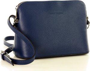 Granátová kožená crossobody kabelka MARCO MAZZINI (l165k) Velikost: univerzální