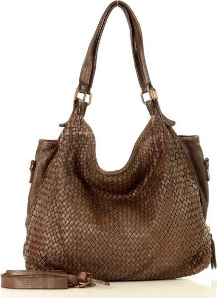 MARCO MAZZINI tmavě béžová shopper bag s otevřenými stranami (v39f) Velikost: univerzální